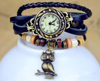 Watch Bracelet with Charm