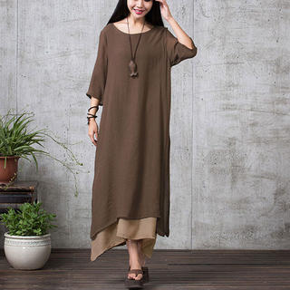 Two Layer Linen Dress