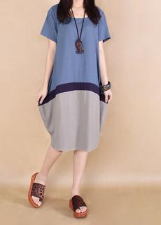 Three Tone Linen Dress