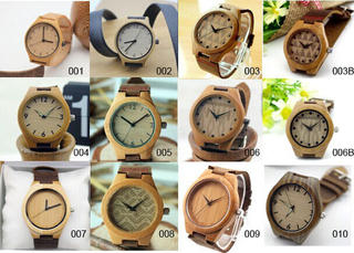 Wooden Watch with Leather Belt