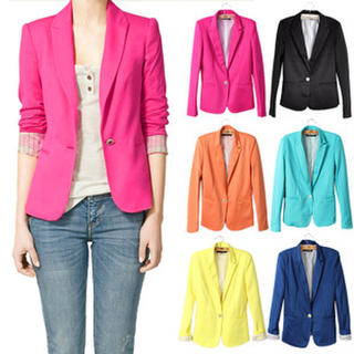 Women's One Button Blazer