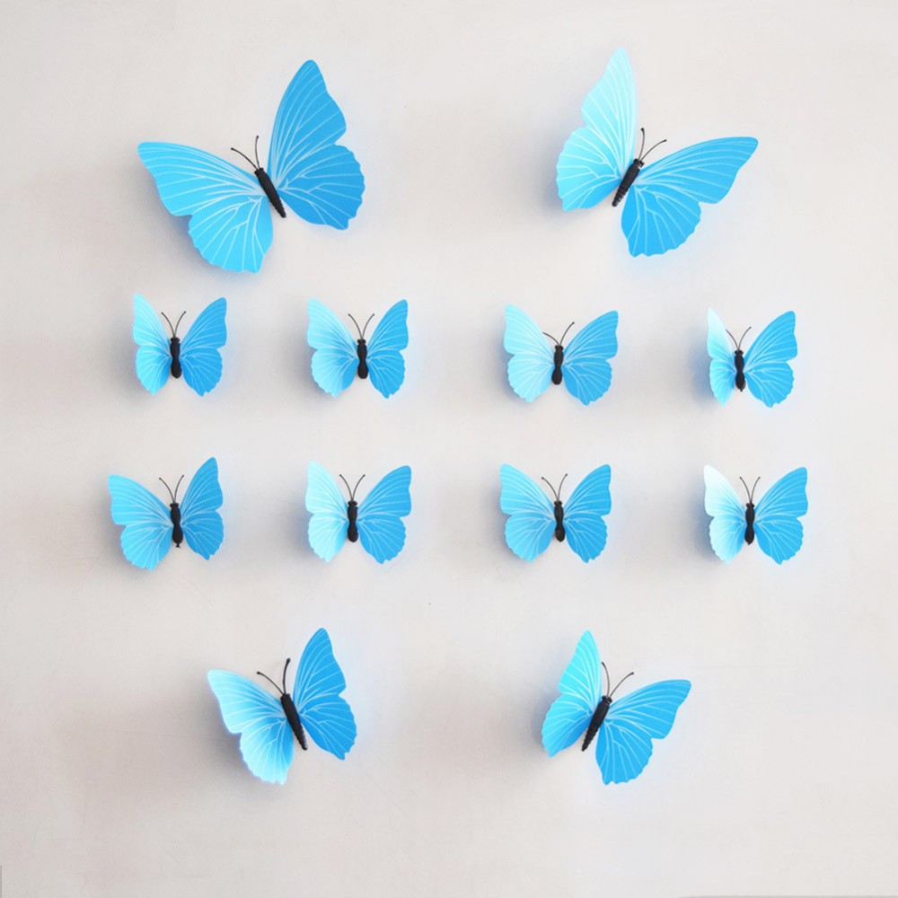 3d butterfly decals the beauty closet limited. Black Bedroom Furniture Sets. Home Design Ideas